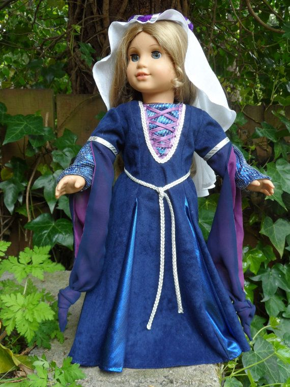 Medieval outfit for your American Girl by CarmelinaCreations, $75.00