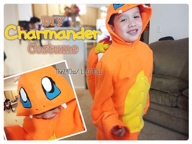 Diy Charmander costume, for Halloween or a birthday party!  Disfraz de Charmander, ya se para dia de brujas (Halloween) o una fiesta