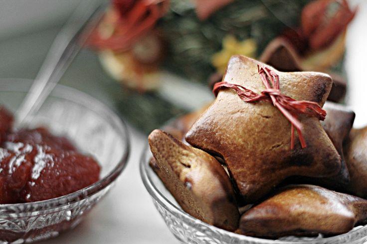 Pierniczki z marmoladą różaną / Gingerbreads with rose marmalade