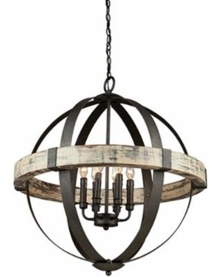 Artcraft Lighting Castello Aspen & Black Four-Light 28'' Wide Chandelier - Google Search