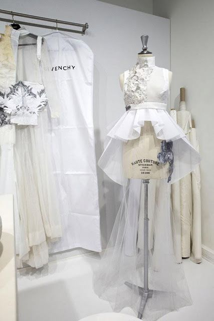 Fashion design behind the scenes; fashion atelier // Givenchy haute couture