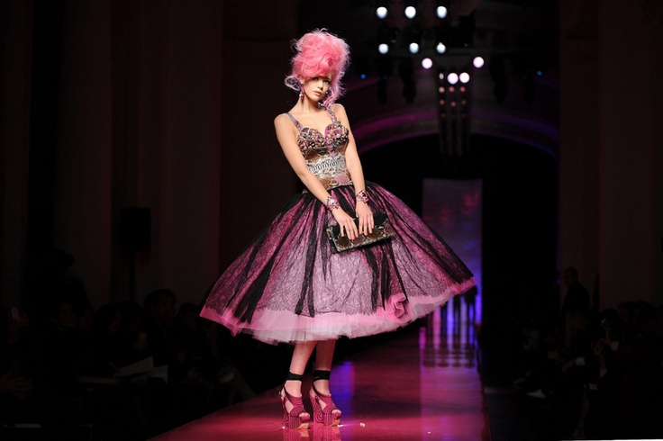 Jean Paul Gaultier - Apparently a tribute to Amy Winehouse. I like the pieces but I prefer the Amy-inspired collection that Lagerfeld did for Chanel in 2007.