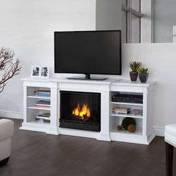 @Overstock - Spend an evening reading beside the fire with this portable Fresno fireplace from Real Flame. This fireplace also functions as a television stand and can support TVs up to 100 pounds. The use of three cans of gel generates 9,000 BTUs of real warmth.http://www.overstock.com/Home-Garden/G1200-W-Fresno-Fireplace-by-Real-Flame/6805727/product.html?CID=214117 $709.99