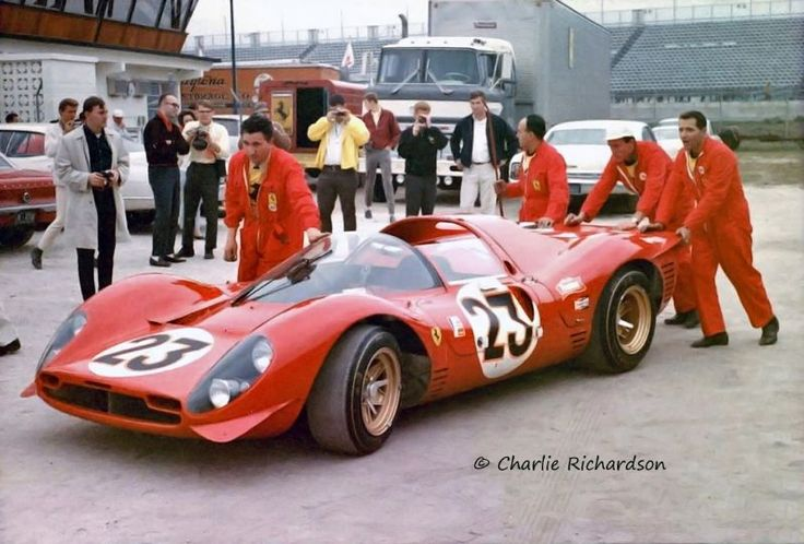 The factory Ferrari 330 P3/4 that Chris Amon and Lorenzo Bandini drove to first place at the Daytona 24 in 1967.