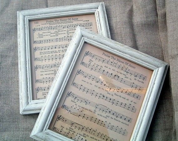 "Framed vintage sheet music-want to frame ""rocky top"" and hang over the piano to surprise my hubby:)"