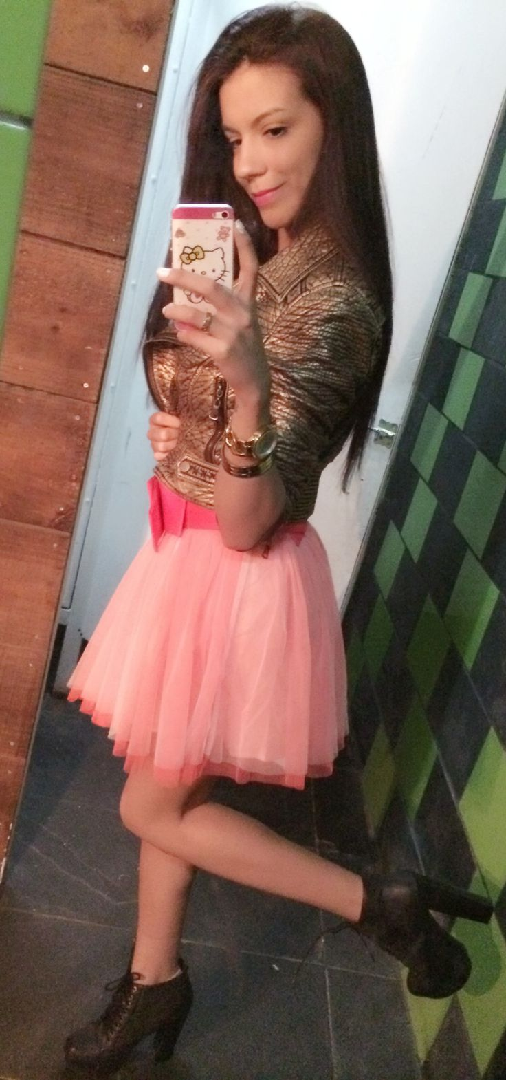 Tutu Skirt Street Style pink! Lita Outfit
