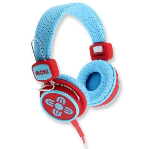 Kids Safe Volume Limited Blue & Red Headphones - School Depot NZ