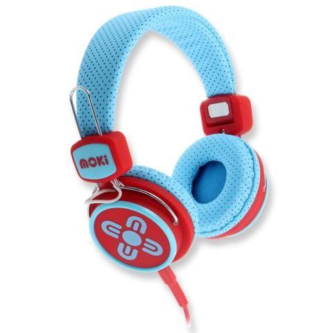 Kids Safe Volume Limited Blue & Red Headphones - School Depot NZ