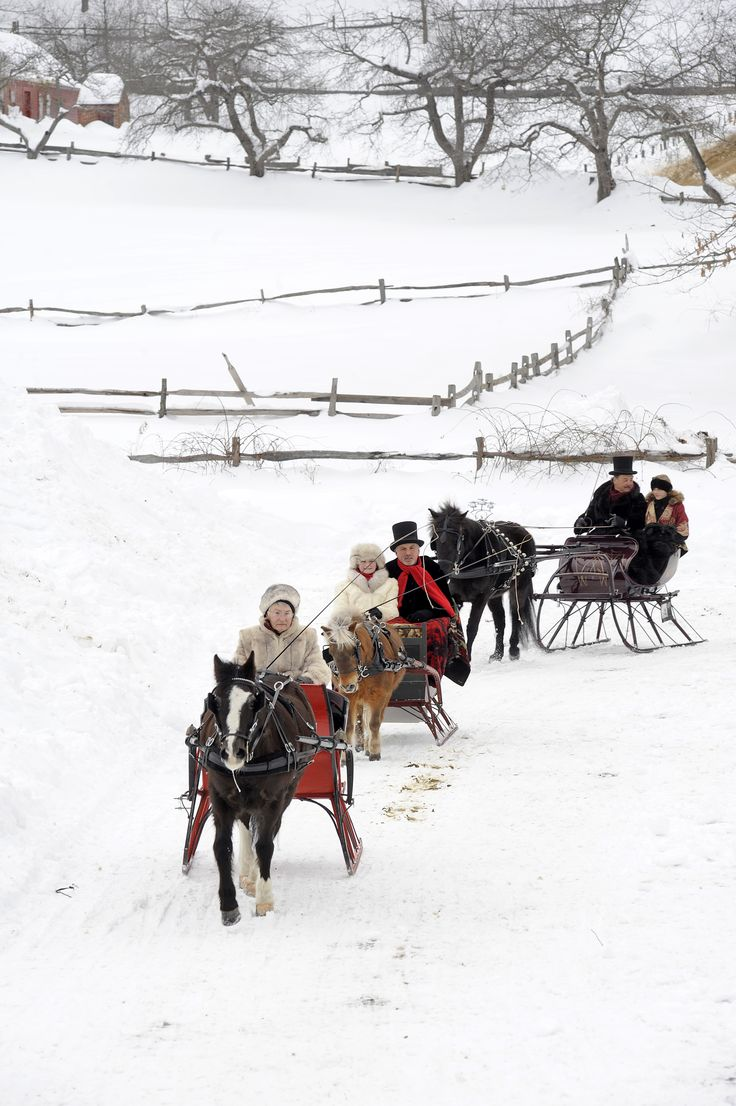 Entries into the Old Sturbridge Village Antique Sleigh Rally.