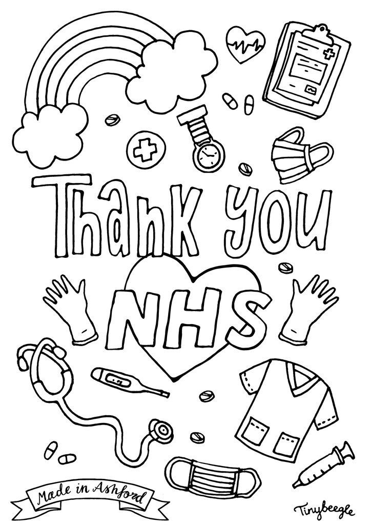 Thank You Nhs Colouring Sheet Coloring Sheets Coloring Pages Inspirational Free Printable Coloring Pages