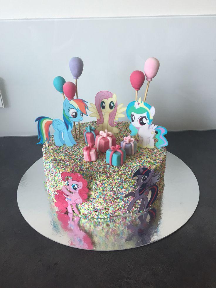 My little pony kage til josephines 4 års fødselsdag - chokolade kage med smørcreme