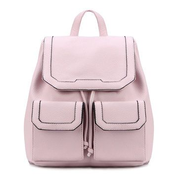 Leather-Look Mini Backpack in All Pink from mobile - US$37.95 -YOINS