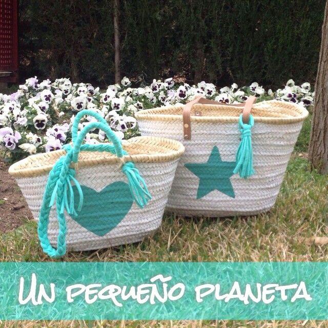 cestas decoradas a mano