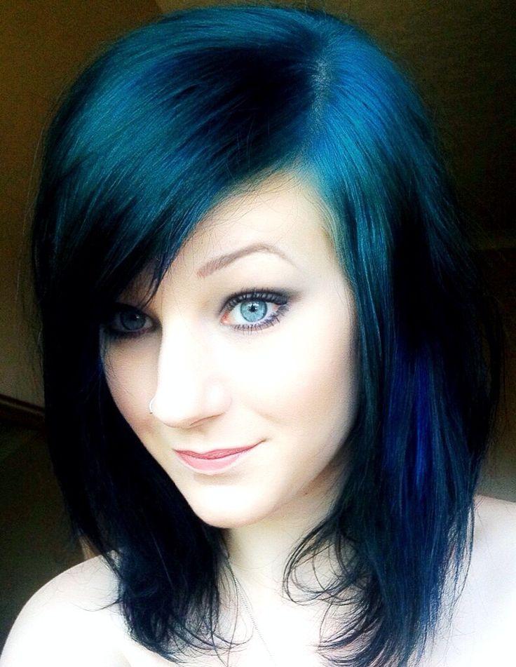 dyed hair ideas blue - Google Search