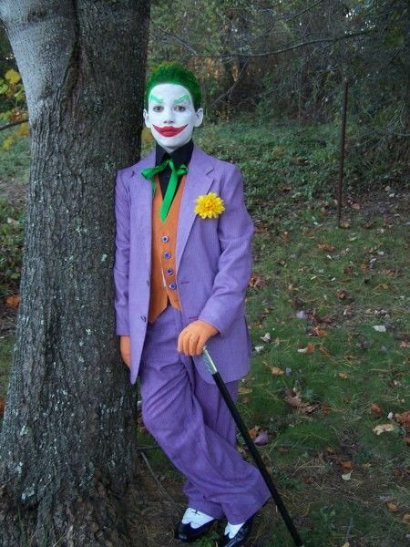 Classic Purple Joker Costume For Kids