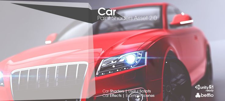 Car Assets is a package that contains photo realistic shaders, a lot of realistic effects and  useful scripts for cars.  We give you a lot of example scenes made from scratch to show you full potential of that shaders.  We provide you with shaders for mobile and high end PC's Car visualisations.  Update 2.0 Unity5 PBR Materials, HDR Lighting, Render-Like Ready Made Scenes and much more U5 Assets...  Documentation |  Forum Thread |  More  If you are planning to use shaders, effects or create…