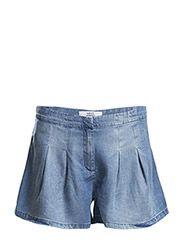 Denim soft shorts