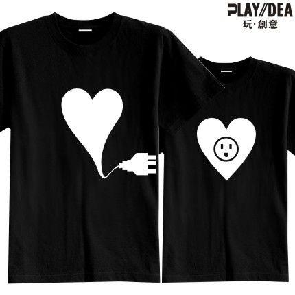 2013 Fashion Lovers Korean t shirt Couple  Valentine's Couples Gifts T-shirt Design Summer slim fit sweatshirts trukfit tops