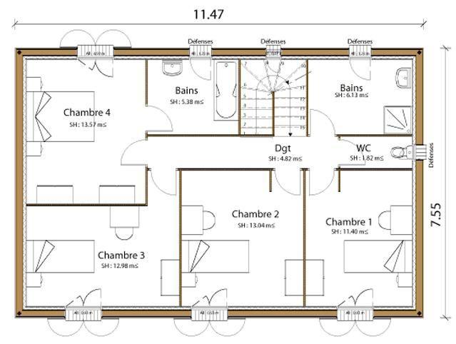 35+ Plan De Maison Moderne Gratuit A Telecharger Pdf en 2020 | Plan de maison gratuit, Plan ...
