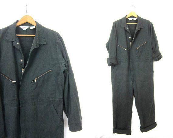 Green Walls Coveralls Vintage Jumpsuit Mechanic Suit Pants Dark