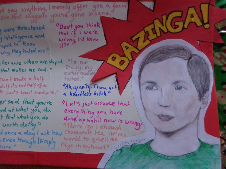 Sheldon Cooper ( from Big Bang Theory) quote board