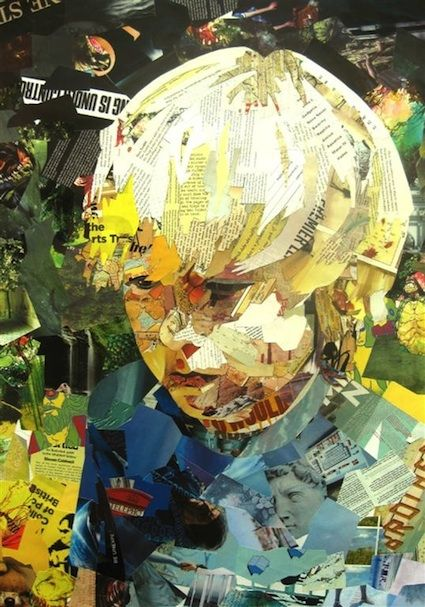 Wow, this picture looks just like my younger brother Ian. So weird!    Patrick Bremer.: Ideas, Artists, Self Portraits, Collage Art, Mixed Media, Art Collage, Patricks Bremer, Recycle Magazines, Paper Collage