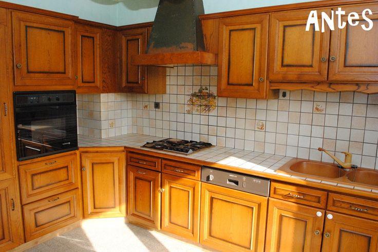 transformación de una cocina solo con pintura7
