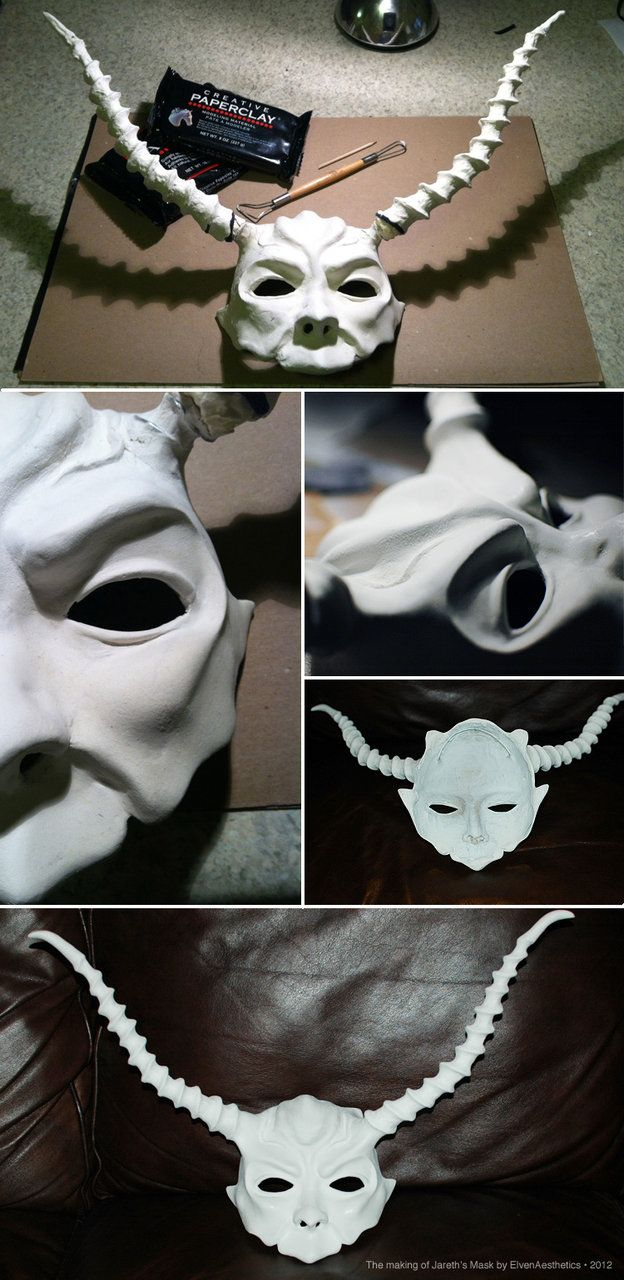 The Making of Jareth's Mask p1 by ~Katyok on deviantART