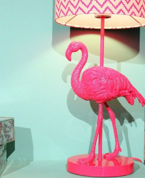 home accessory pink flamingo lamp home decor decoration cute denim shorts