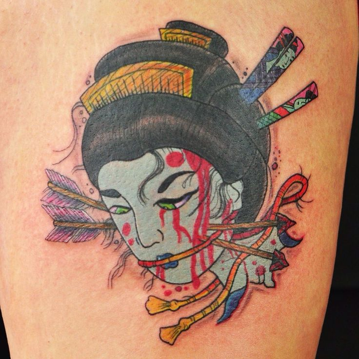 Namakubi #namakubi Neo trad / Japanese tattoo #leicester