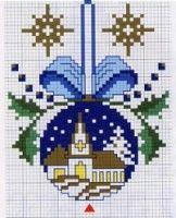cross stitch christmas bell