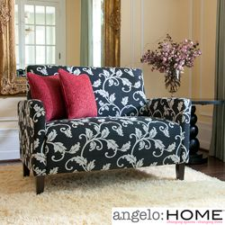@Overstock - Wrapped in soft, vine-print woven fabric, this angelo:HOME loveseat is a bold, modern accent to any living space. The wood frame is glued and corner blocked.http://www.overstock.com/Home-Garden/angelo-HOME-Sutton-Charcoal-Black-and-White-Vine-Loveseat/4155007/product.html?CID=214117 $407.99