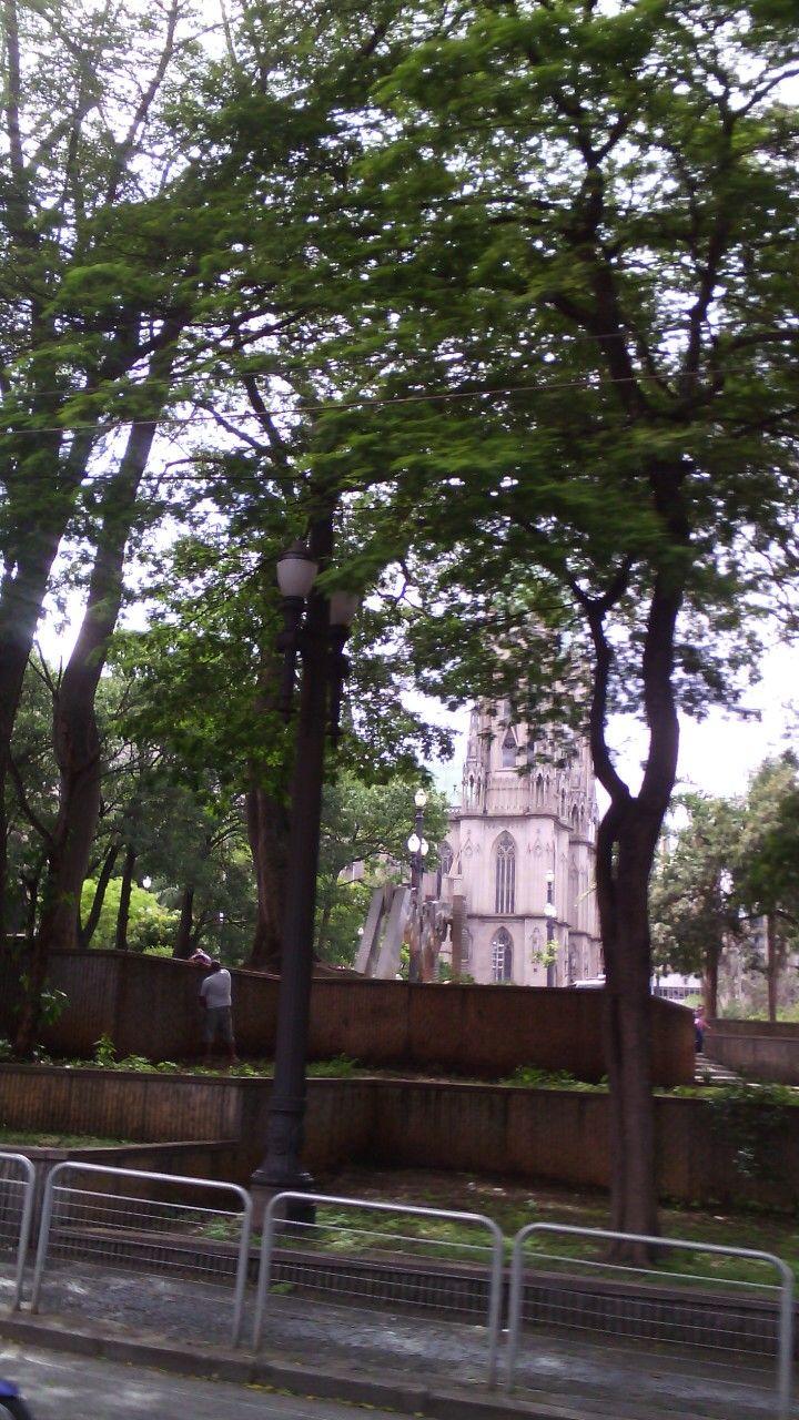 Catedral vista do outro lado da Praça da Sé. São Paulo. SP. Brasil