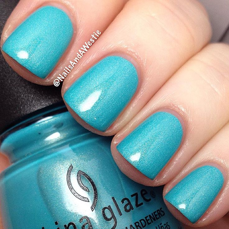"China Glaze ""What I Like About Blue"" from the Summer 2016 Lite Brites Collection"