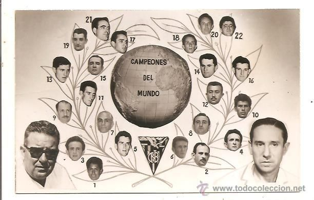 POSTCARD CHAMPIONS OF THE WORLD OF BASQUE BALL YEAR 1962 - Photo 1