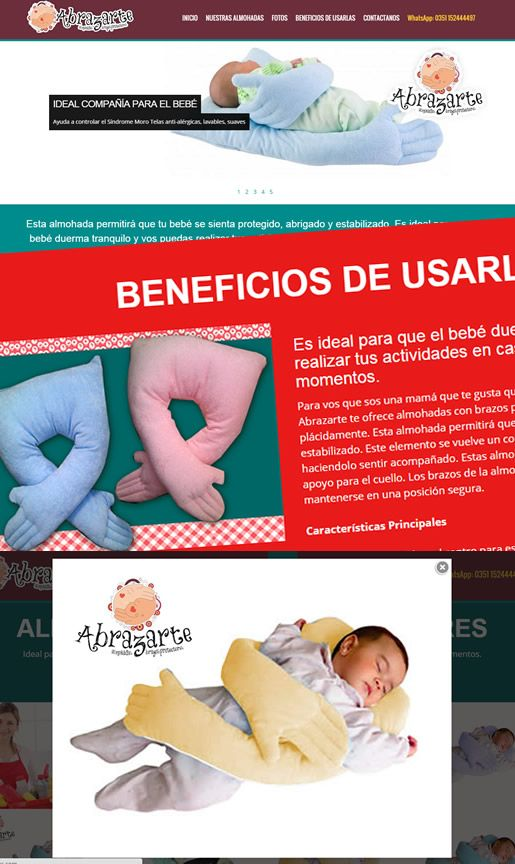 Abrazarte Almohadas: Website