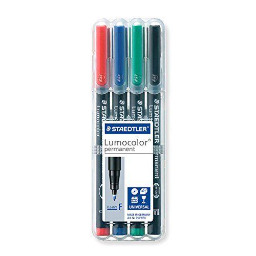 Staedtler 318 WP4 Lumocolor Universal Permanent Fine Pens - Assorted Colours Staedtler http://www.amazon.co.uk/dp/B000SHT14G/ref=cm_sw_r_pi_dp_Un3yvb14EP5ZF