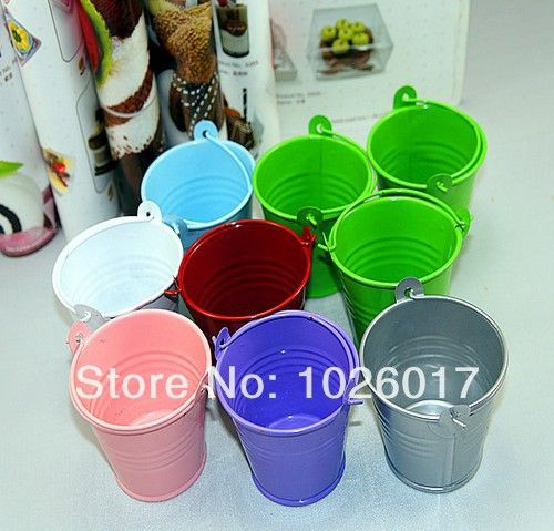 30pcs/lot  Mini Cute Chocolate Candy Bucket Keg Wedding Party Favors Kisses DIY free shipping US $13.30
