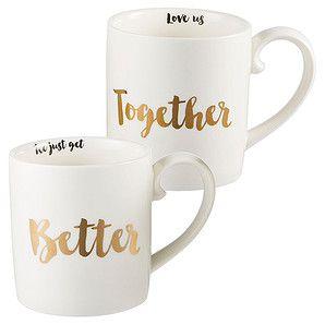Lisa T 'Better Together' Set of 2 Mugs – Target Australia