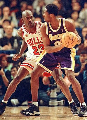 Kobe Bryant as Michael Jordan, 1990-91 One thing Kobe never took from the great one.....defense!