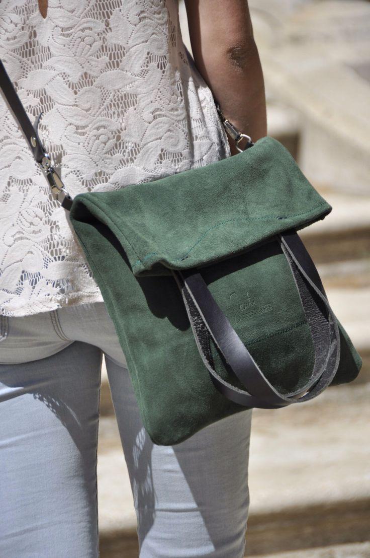 OFFER Leather bag green leather bag woman bag crossbody bag tote bag everyday bag casual bag custom tote bag by SANTIbagsandcases on Etsy https://www.etsy.com/listing/190663625/offer-leather-bag-green-leather-bag