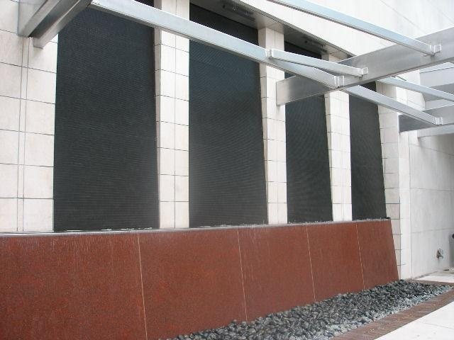 Water Wall installed at Collin County Community College