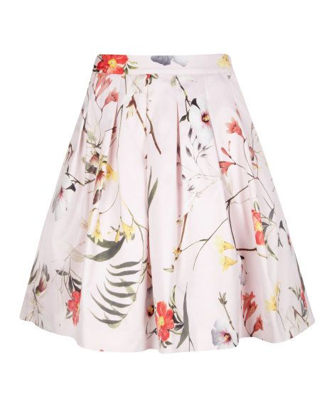 Botanical Bloom full skirt - Pale Pink | Skirts & Shorts | Ted Baker #pinpoinTED