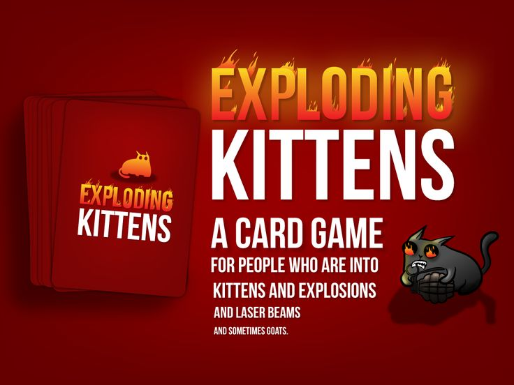 Exploding Kittens's video poster - a Kickstarter favorite. Goal $10k with 20 hours to go now at $7,716,983