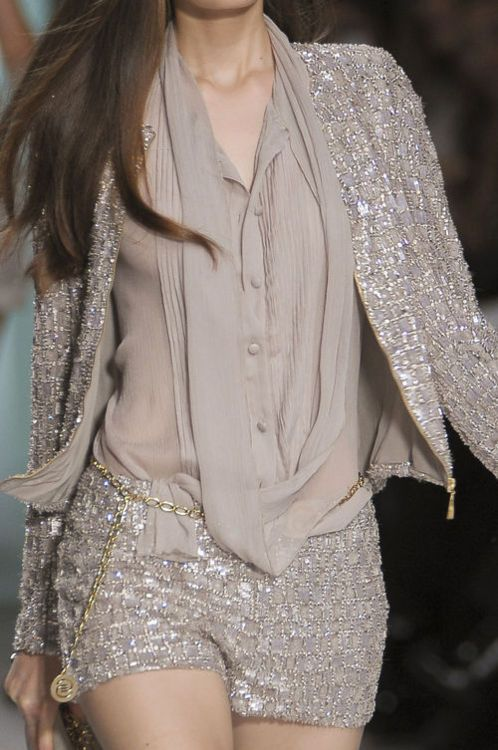 glamour: Eliesaab, Woman Fashion, Fashion Clothing, Elie Saab, Style, Ellie Will Be, Evening Outfits, Sequins, Neutral Tones