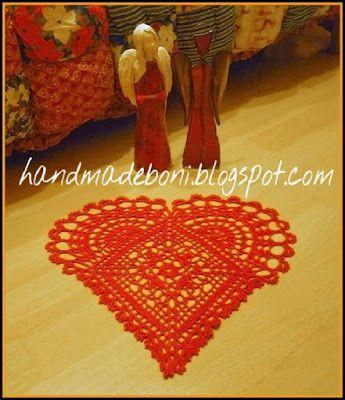 HandmadeBoni: Czerwone serce - serwetka w tutoriale i WOŚP