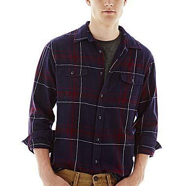 Arizona Long-Sleeve Flannel Shirt -- 55% off with coupon RMN15 at jcpenney.com (July 2014)