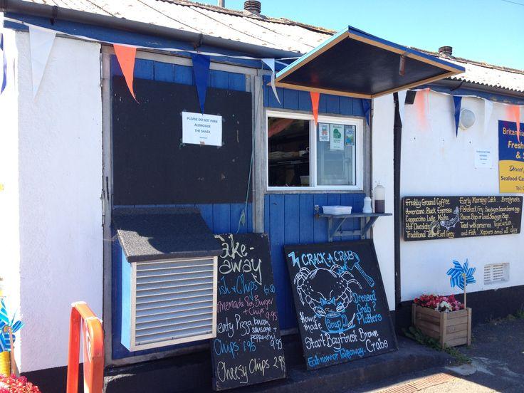 Britannia @ The Beach, Beesands, Devon, UK. Best fish & chips in the world!! Take my word for it! ;)