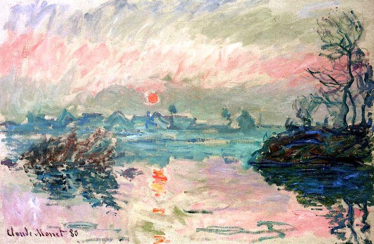 Sunset at Lavacourt / Claude Monet - 1880