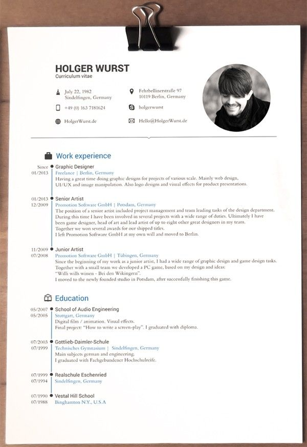 22 best Resume design images on Pinterest - how to write a one page resume